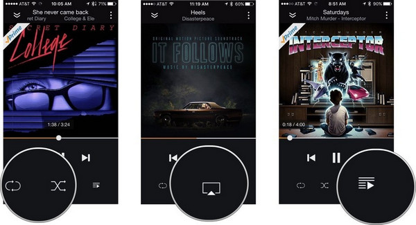 control amazon music on iphone